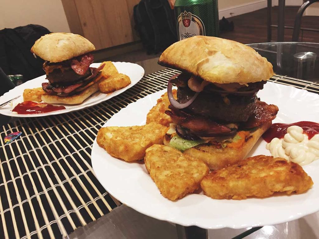 Burger własnej roboty w Wielkiej Brytanii
