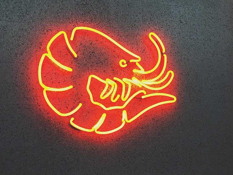 Neon Shrimp House Gliwice